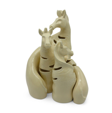 Zebra Family Ceramic Showpiece - @home by Nilkamal, Indigo