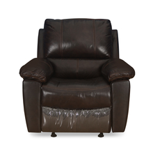 Ethan 1 Seater Sofa With Manual Rocker Recliner, Russet Brown
