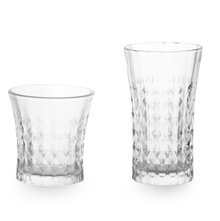 Diamond Tumbler Set of 12 - @home by Nilkamal, Clear