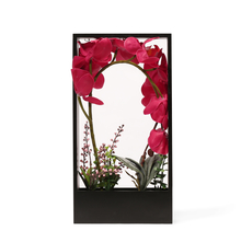 Pink Orchid Potted Plant in Frame - @home by Nilkamal, Black