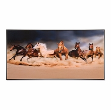 Seven Horses 30 cm x 60 cm Painting - @home by Nilkamal, Brown