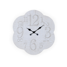 Flower 77X6.5X77 CM Wall Clock, White