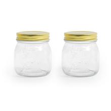 Jar 275 ml with Metal Lid Set of 2 - @home by Nilkamal, Multicolor