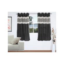 Kick Geo 2 Pieces Window curtain 112X215CM, Grey