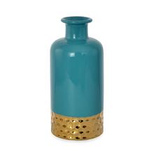 Enchanted Small Bottle Vase - @home by Nilkamal, Sea Green