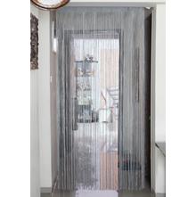 Thread 100 cm x 229 cm Door Curtain - @home by Nilkamal, Silver