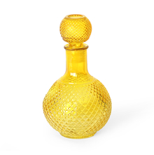1000 ml Glass Decanter with Stopper - @home by Nilkamal, Yellow