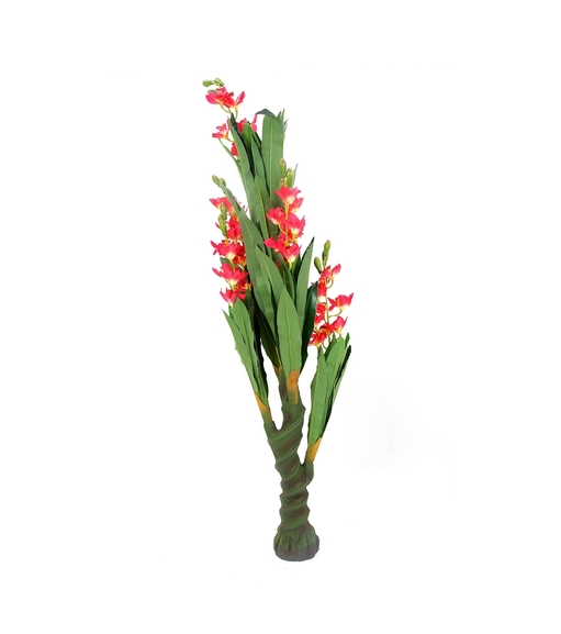 Tall Orchid Tree with Pot - @home by Nilkamal, Red