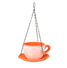 Cup Saucer Hanging Planter - @home by Nilkamal, Orange