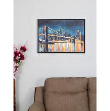 Golden Bridge 55X75CM Painting, Orange