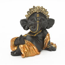 Baby Ganapati 1 Showpiece - @home by Nilkamal, Gold