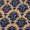 Ikat Coir 45 x 75 cm Doormat - @home by Nilkamal, Indgio