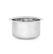Plain Stainless Steel 3.4 Litres Tope, Silver