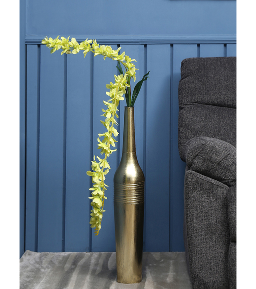 Dancing Orchid Tall Artificial Flower Stick, Yellow
