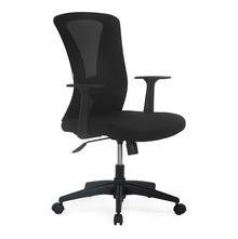 Nilkamal Lexa Mid Back with Fix Arm Office Chair, Black