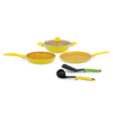 Da Vinci Cookware Set - @home By Nilkamal, Orange