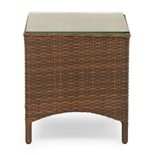 Futura Cane Garden Table - @home by Nilkamal, Brown