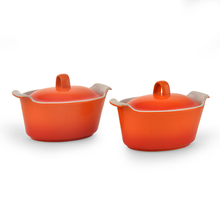 Bergner Set of 2 Casserole with Lid, Orange