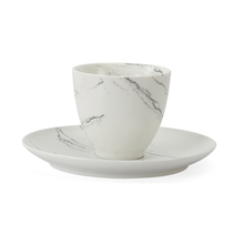 Marble Collection Cup & Saucer - @home by Nilkamal, White