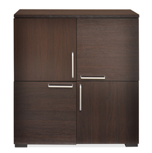 Verona Storage Cabinet,  dark walnut