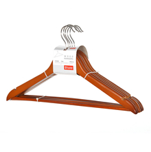 Wood Hanger Set of 5 - @home by Nilkamal, Light Brown