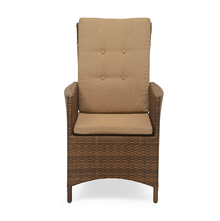 Futura Cane Garden Chair with Manual Recliner - @home by Nilkamal, Brown