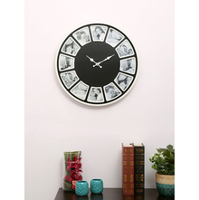 Wall Clock & Photo Frame, Black & White