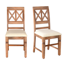 Festo Dining Chair Set of 2 with Cushion - @home by Nilkamal, Natural