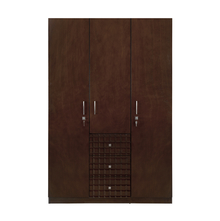 Rivera 3 Door Wardrobe - @home by Nilkamal, Dark Walnut