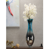 Azure Aura Convex Large Vase, Sea Green