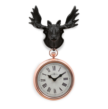 Irish Station 21 cm x 9 cm x 42 cm Clock - @home by Nilkamal, Black