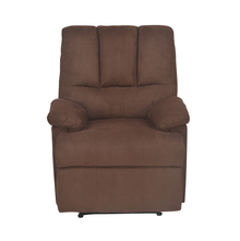 Hansel 1 Seater Sofa With Recliner, Dark Brown