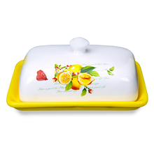 Ceramic Butter Dish - @home by Nilkamal, Yellow