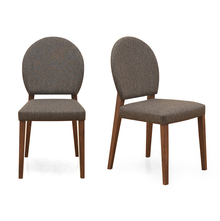 Messo Dining Chair Set of 2 - @home by Nilkamal, Dark Walnut