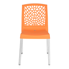Nilkamal Novella 19 Stainless Steel Chair, Orange