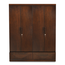 Nixon 4 Door Wardrobe - @home by Nilkamal, Cherry