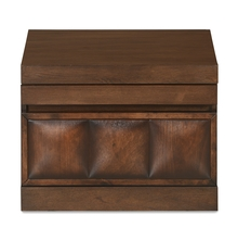 David New Night Stand - @home by Nilkamal, Dark Walnut