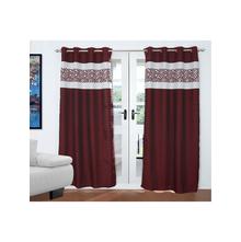 Kick Geo 2 Pieces Door curtain 112X213CM, Red