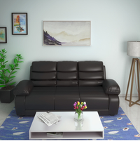 Beauty 3 Seater Sofa - @home by Nilkamal, Chocolate