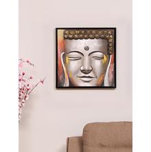 Dhyana Buddha 55X55CM Painting, Yellow
