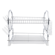 Stainless Steel Dish Rack - @home by Nilkamal, Silver