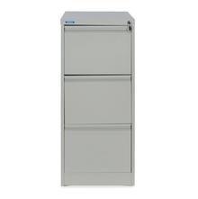 Nilkamal Titan 3 Drawer Filing Cabinet, Grey