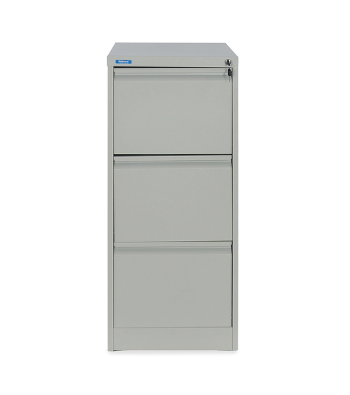 Nilkamal Titan 3 Drawer Filing Cabinet, Grey