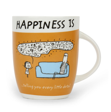 Hap Telling U 420 ml Coffee Mug - @home by Nilkamal, Brown