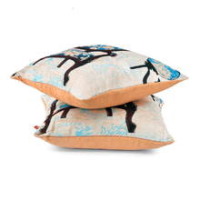 Ixora Butterfly 40 x 40 cm Set of 2 Cushion Cover - @home by Nilkamal, Teal