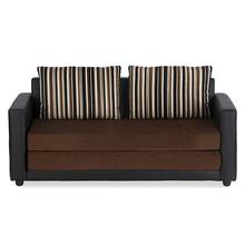 Nilkamal Moore 3 Seater Sofa cum Bed - Brown & Black