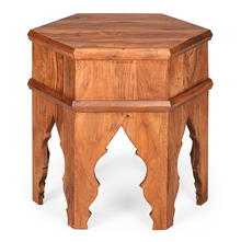 Dynasty Octongal Side Table - @home Nilkamal,  walnut