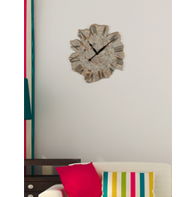Fossil 59cm x 6cm x 59 cm Wall Clock - @home by Nilkamal, Brown