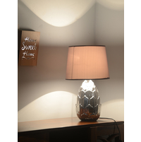 Lotus Gleam 30X30X48CM Large Table Lamp, Silver