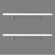 Romantic & Janus Big Wall Shelf Set of 2 - @home by Nilkamal, White